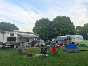 Campsites get cozy when it's full at Circle M
