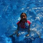 Daughter in the Pool