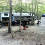 Our campsite at Sea Pines