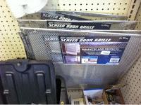 Camco aluminum screen door grille