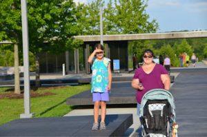 Walking down the memorial