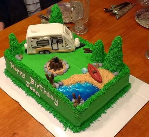 Camping Themed Birthday Cake Roo 233S