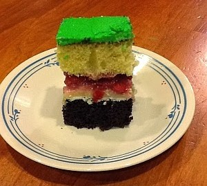 Roo Birthday Cake - Cut