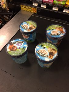 4 Pints of Ben and Jerrys