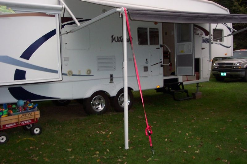 DIY PVC Support Awning Pole