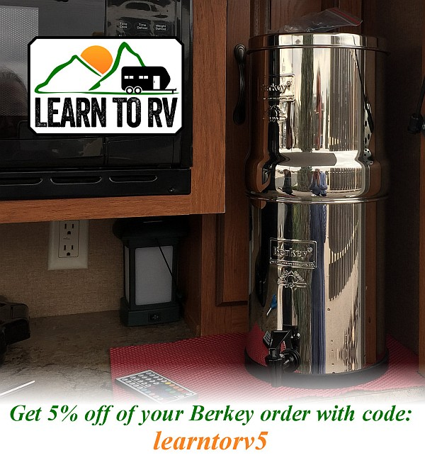 Berkey water filters provide the ultimate in water purification; get 5% off with code learntorv5