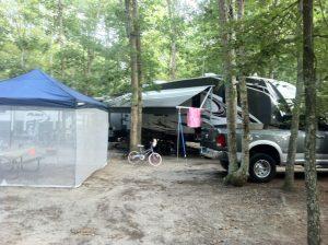 Campsite at Sea Pines
