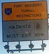 Fort McHenry Tunnel Restrictions