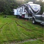 Yeah, those are my truck ruts in the grass