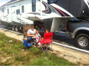 Picnic Lunch at Truck Stop