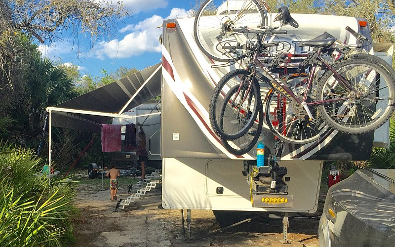 Diy Fifth Wheel Pin Box Bike Rack Pictures Learn To Rv