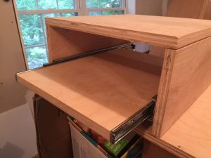 Drawer Re-cut and Shelf Assembled