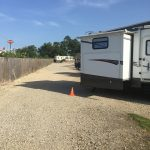 I75 RV Park - Rear of Camper Sticking Into Drive