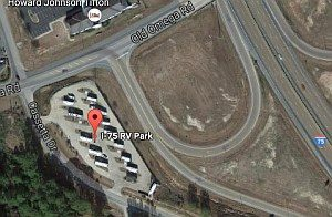 Showing I75 RV Park on Google Maps