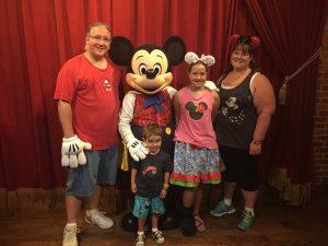 Setzer Family with Mickey Mouse