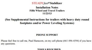 SteadyFast Instructions