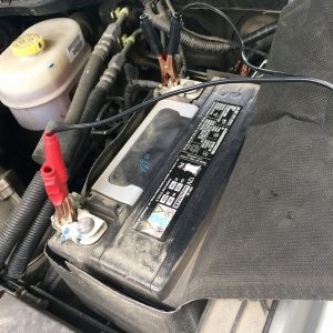 Connect cables to the truck battery