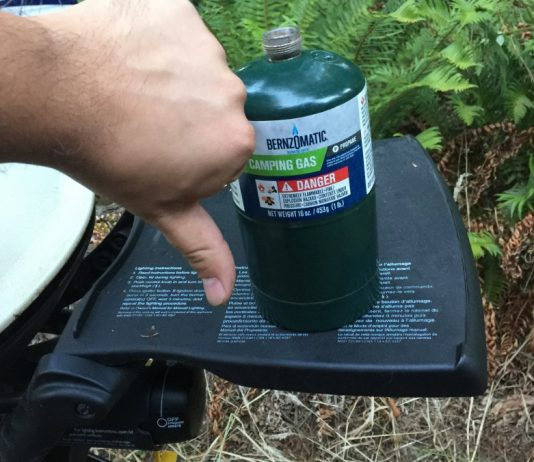 Ditch the little green bottles for your Weber Q or Coleman RoadTrip