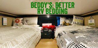 Kids Beds in the Toyhauler Garage