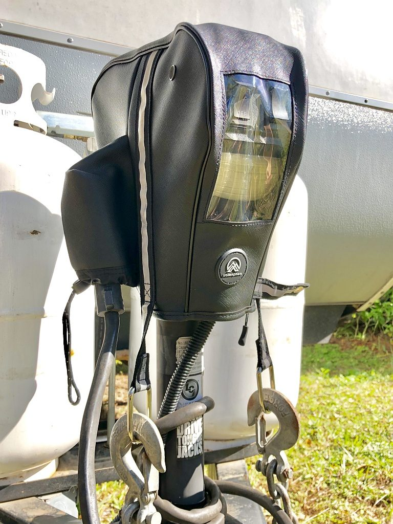 Clever Cover Tongue Jack Cover by TrailerSphere Installed on Lippert Jack