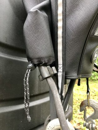 Close Up of 7-Pin Plug Pocket on TrailerSphere Tongue Jack Cover