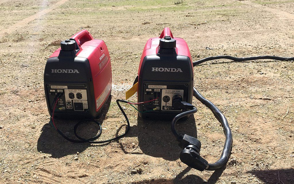 Pair of Honda 2000 Portable Generators Paralleled Together