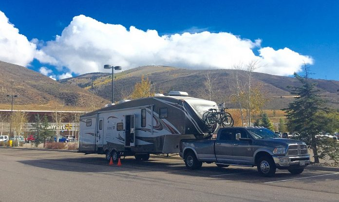 Parked Overnight at Walmart in Avon Colorado