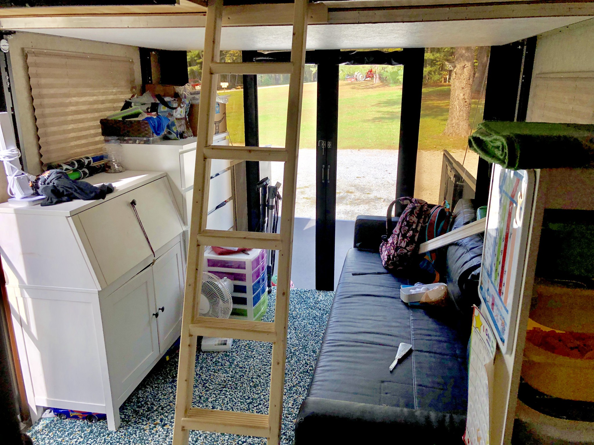 Remodeled Toy Hauler Garage As Kids Bedroom Learn To Rv