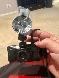 Picture of assembled Vantrue X4 Dashcam in my hand