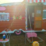 Antique trailer campsite